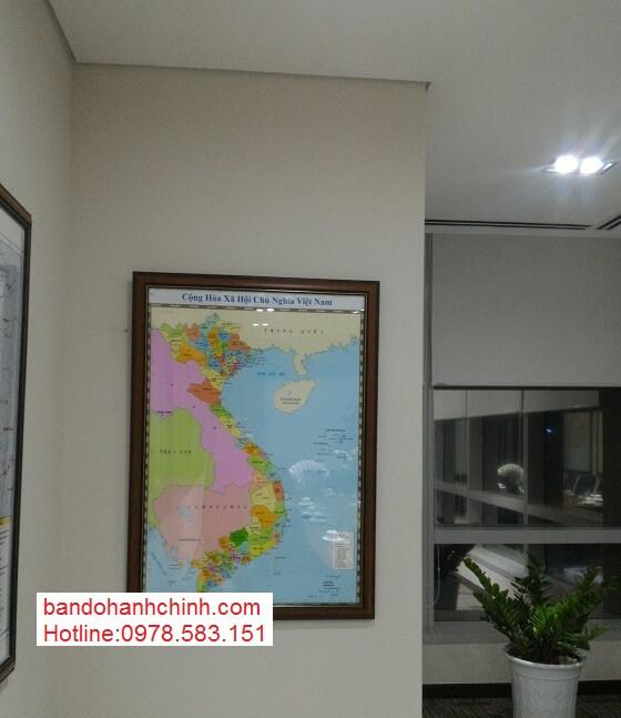 Bán bản đồ Việt Nam Tiếng Trung khổ lớn