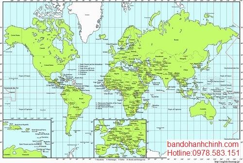Mua tranh bản đồ thế giới