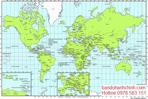 Địa chỉ bán bản đồ thế giới