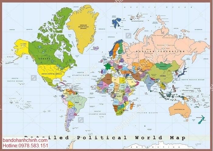 Chỗ bán tranh bản đồ thế giới
