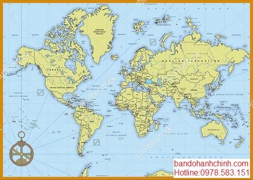 Bán bản đồ Thế Giới tại thành phố hồ chí minh