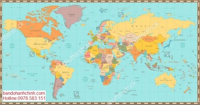 Bán bản đồ hành chính thế giới