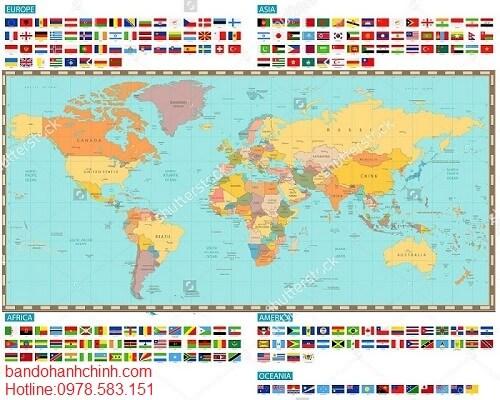 Mua bản đồ hành chính thế giới ở đâu