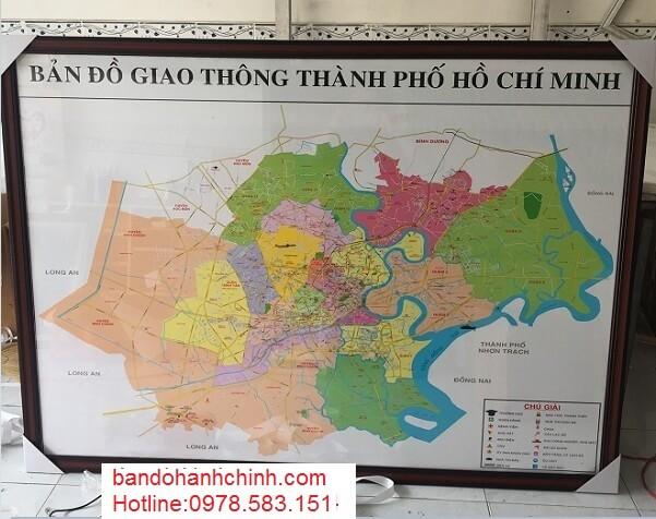 Bán bản đồ tp hcm kích thước lớn