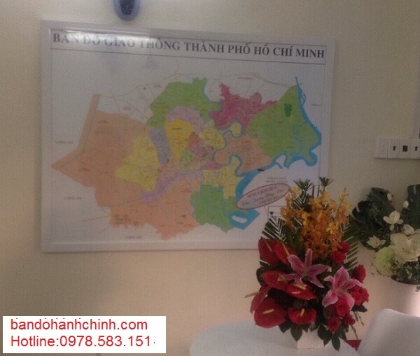 Mua bản đồ thành phố Hồ Chí Minh kích thước lớn ở đâu