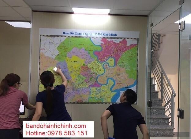 Bán bản đồ thành phố Hồ Chí Minh cỡ lớn