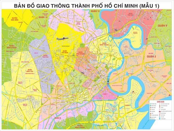 Bán bản đồ thành phố Hồ Chí Minh size lớn