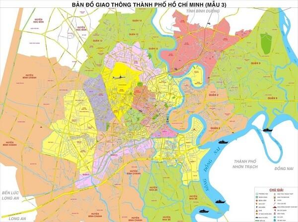 Bán bản đồ thành phố Hồ Chí Minh uy tín