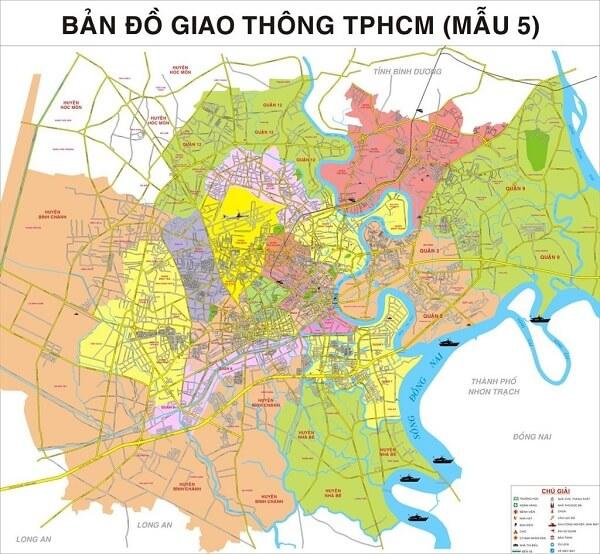 Bán bản đồ thành phố Hồ Chí Minh kích thước lớn