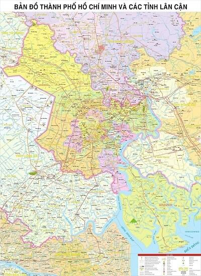 in bản đồ thành phố Hồ Chí Minh uy tín ở đâu