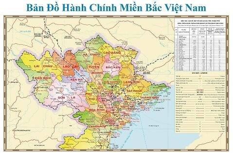 Bán bản đồ miền bắc size lớn