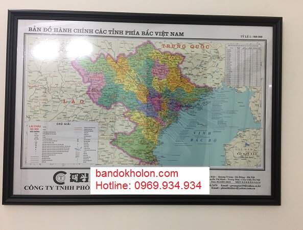Bán bản đồ miền bắc giá rẻ