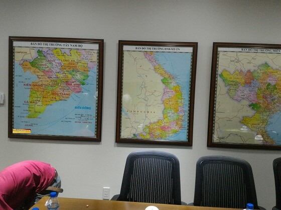 In bản đồ miền trung