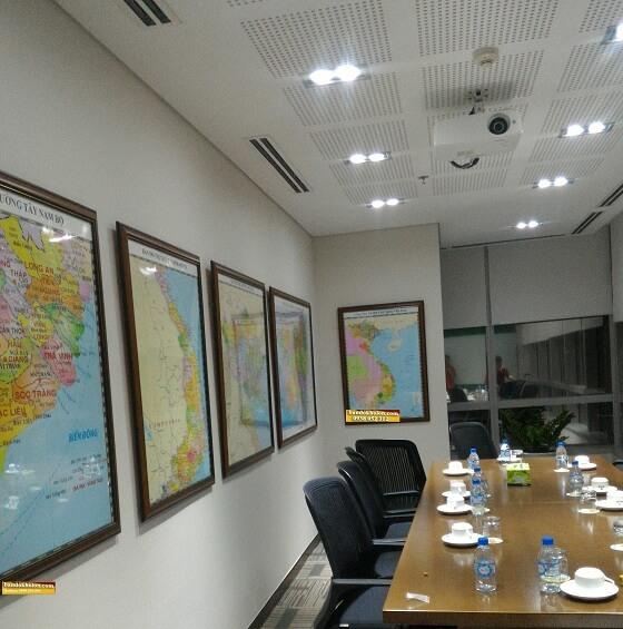Bán bản đồ miền bắc kích thước lớn