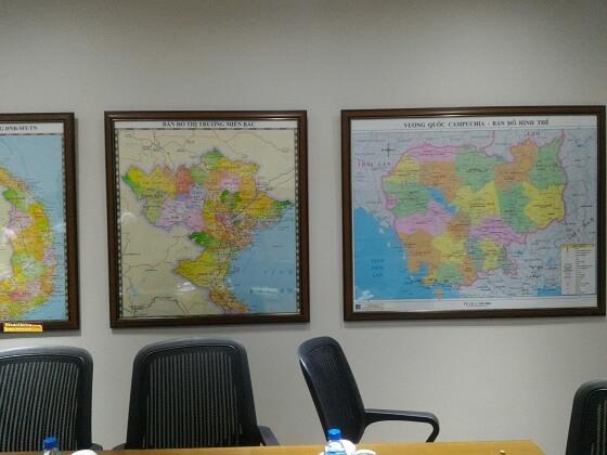 Bán bản đồ miền bắc cỡ lớn