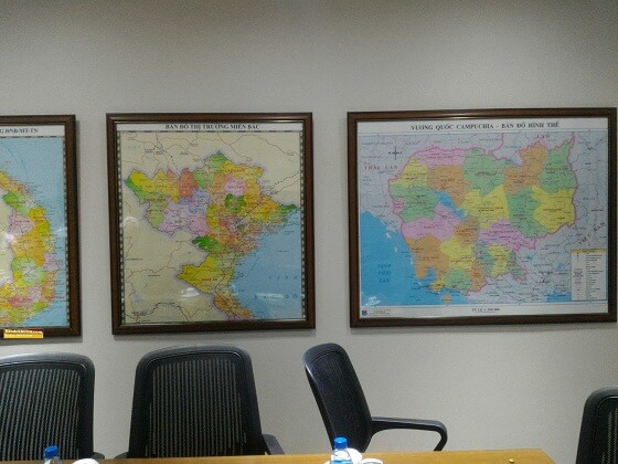 Bán bản đồ miền bắc tại hà nội