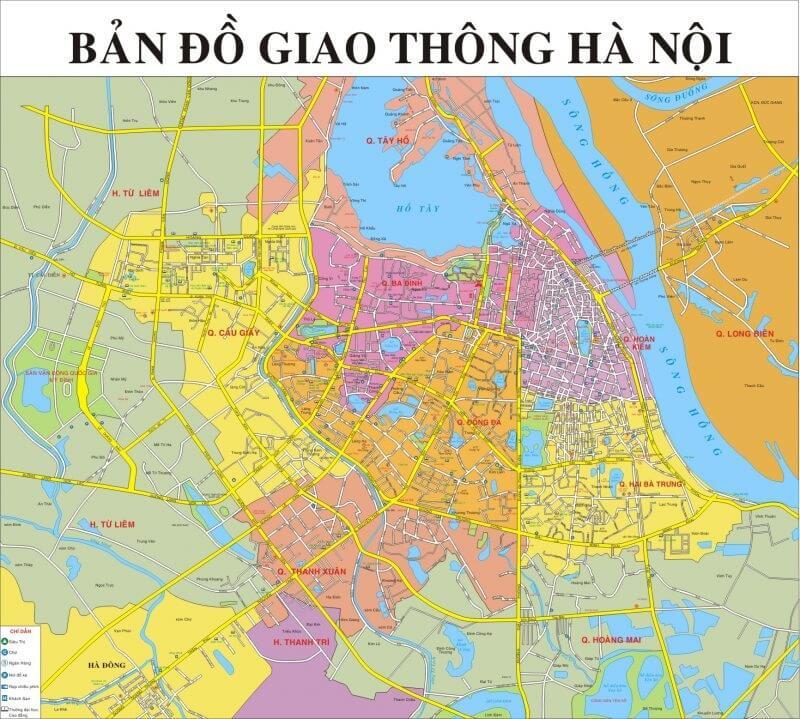 bản đồ giao thông Hà Nội