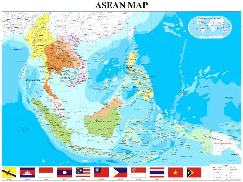 bản đồ Đông Nam Á