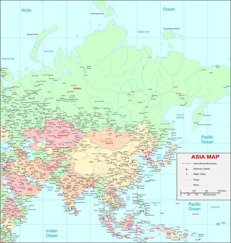 bản đồ châu Á