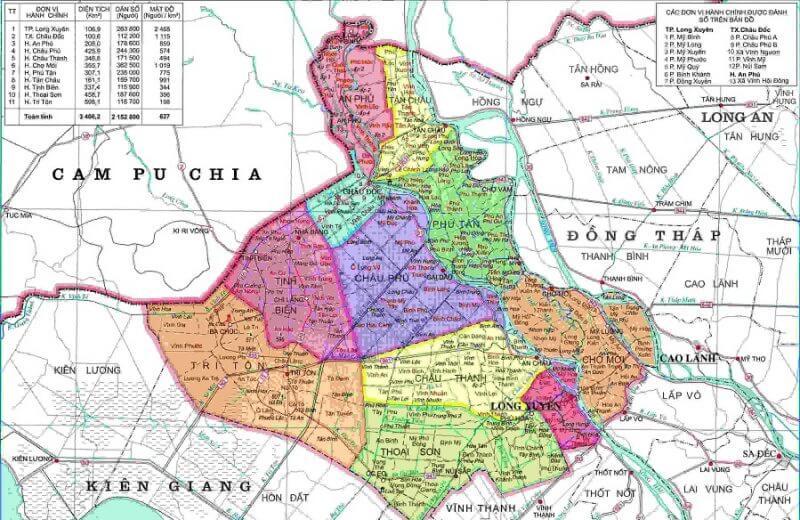 bản đồ tỉnh An Giang