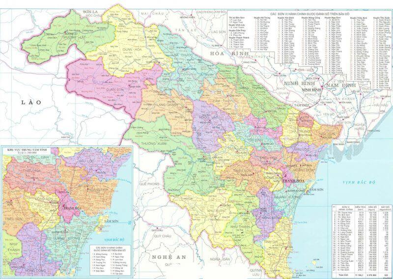 bản đồ tỉnh Thanh Hóa