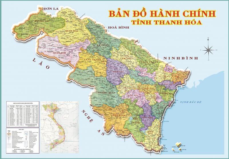 bản đồ hành chính tỉnh Thanh Hóa