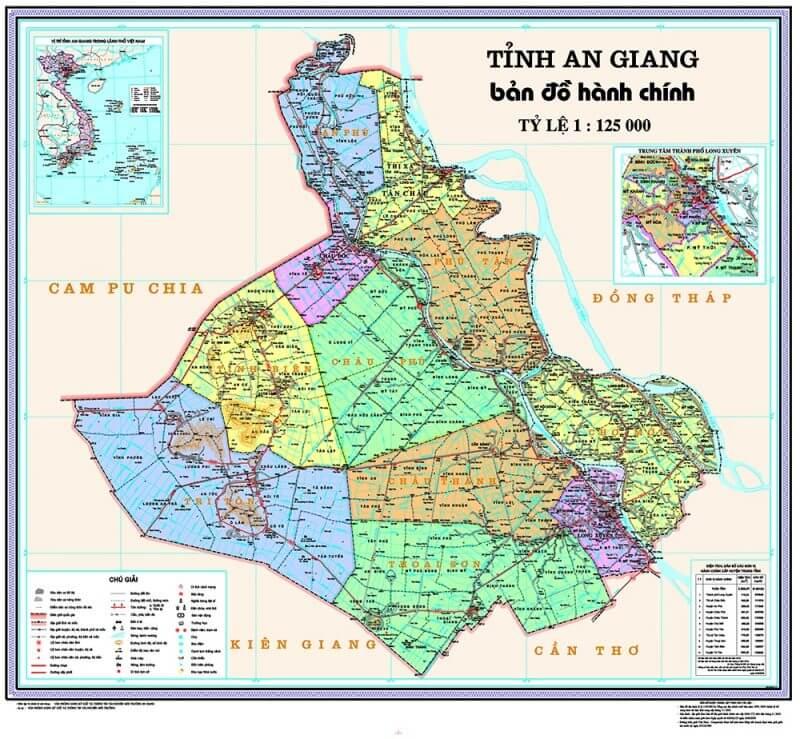 bản đồ hành chính tỉnh An Giang