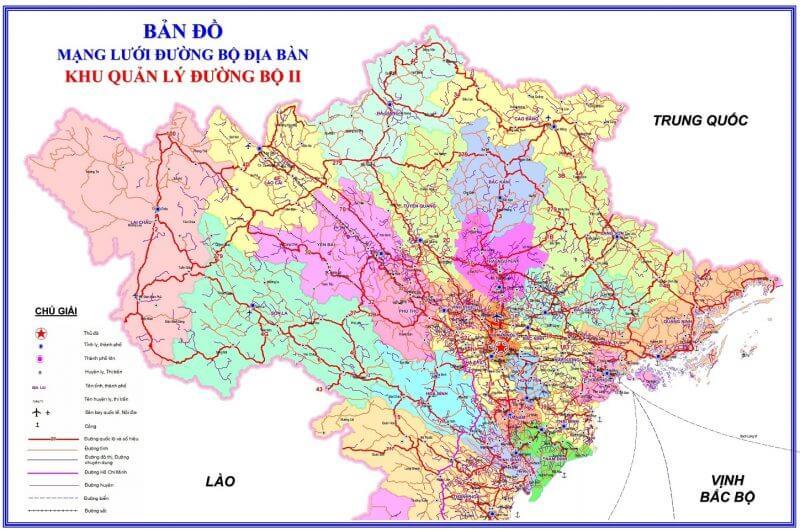 bản đồ giao thông miền bắc
