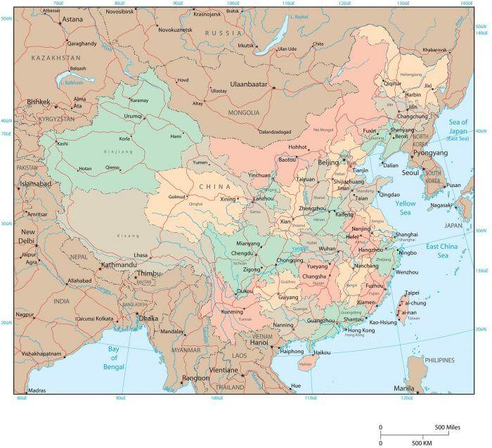 bản đồ Trung Quốc