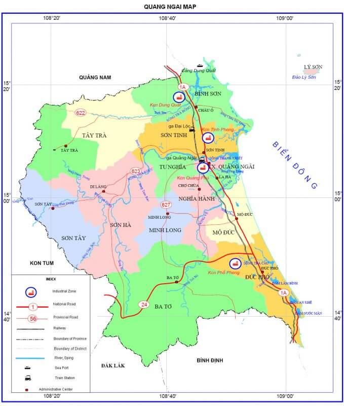 bản đồ giao thông tỉnh Quảng Ngãi