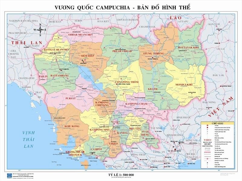 Cùng Bản Đồ Campuchia Khám Phá Những Điểm Du Lịch