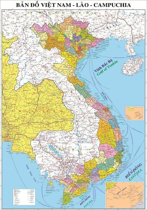 Bản Đồ Đông Dương VN Lào Campuchia Cho Bạn Biết Điều Gì