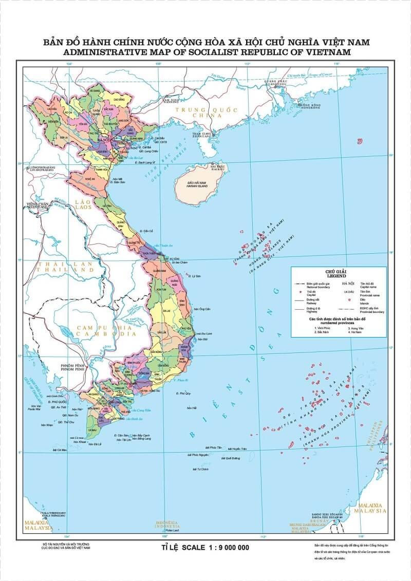 ban do hanh chinh nuoc viet nam