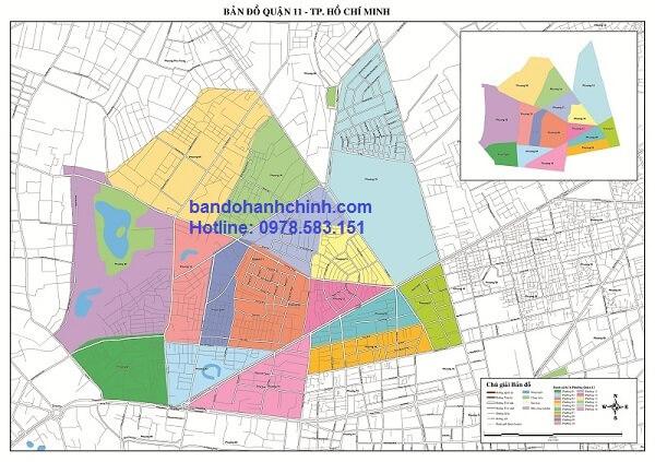 Bản đồ quận 11 Tp Hồ Chí Minh