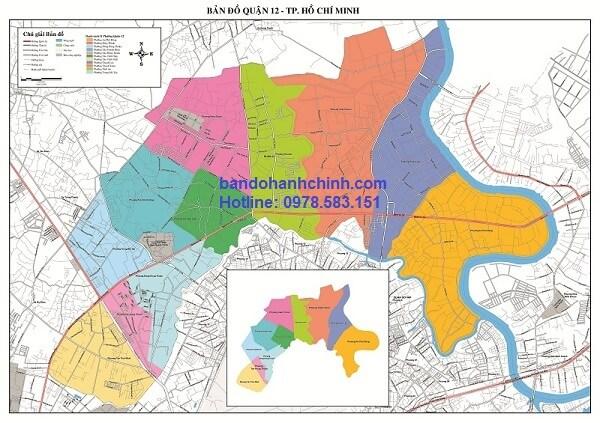 Bản Đồ Quận 12 TP Hồ Chí Minh
