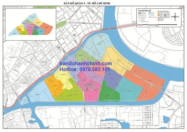 Bản đồ quận 4 TP Hồ Chí Minh