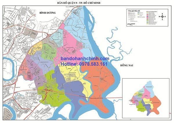 Bản đồ quận 9 TP Hồ Chí Minh