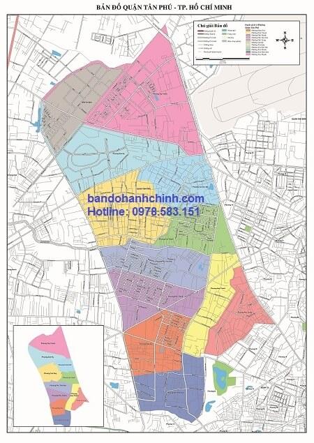 Bản đồ quận Tân Phú TP Hồ Chí Minh