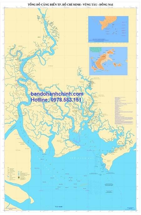 Bản Đồ Hệ Thống Cảng Biển TPHCM Vũng Tàu Đồng Nai