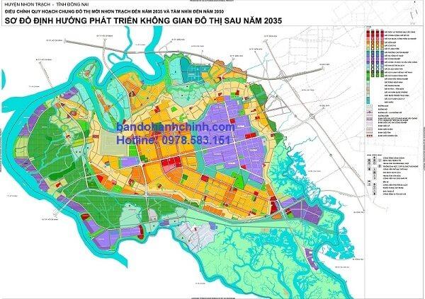Bản đồ quy hoạch huyện Nhơn Trạch Tỉnh Đồng Nai