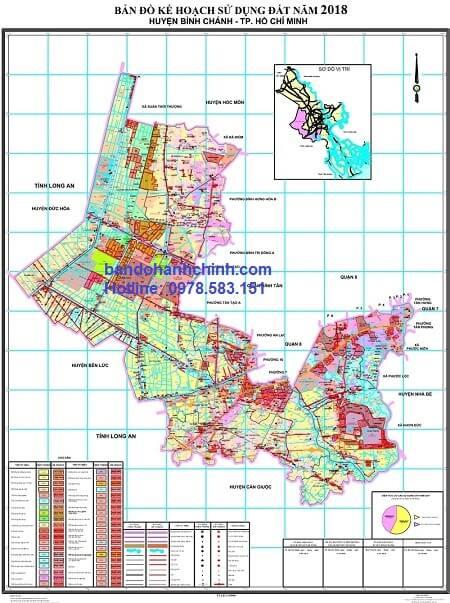 Bản đồ quy hoạch huyện Bình Chánh – TP HCM