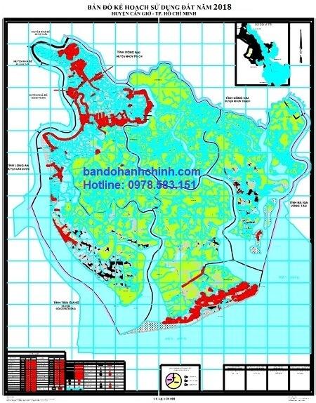 Bản đồ quy hoạch  huyện Cần Giờ – TP HCM