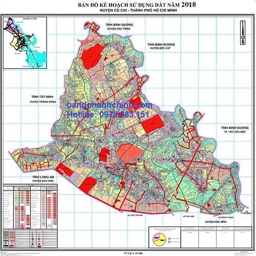 Bản đồ quy hoạch huyện Củ Chi – TP HCM