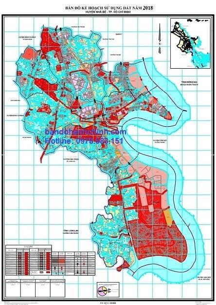 Bản đồ quy hoạch huyện Nhà Bè – TP HCM