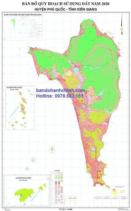 Bản đồ quy hoạch huyện Phú Quốc tỉnh Kiên Giang