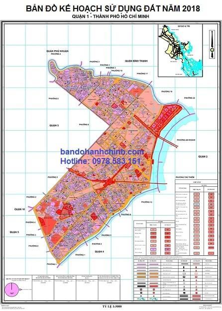 Bản đồ quy hoạch quận 1 TP HCM