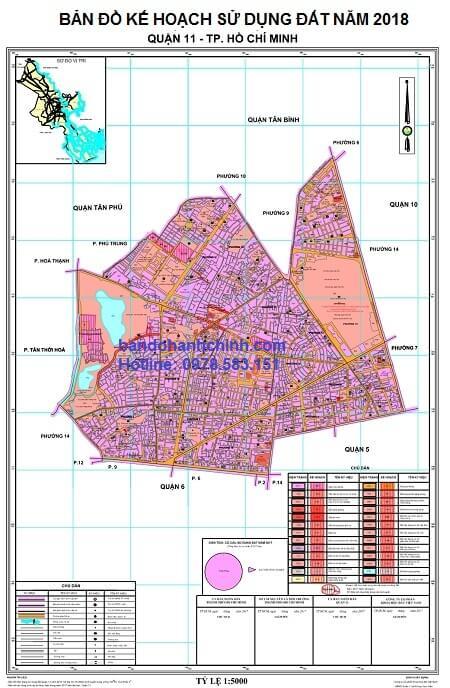 Bản đồ quy hoạch quận 11 TP HCM