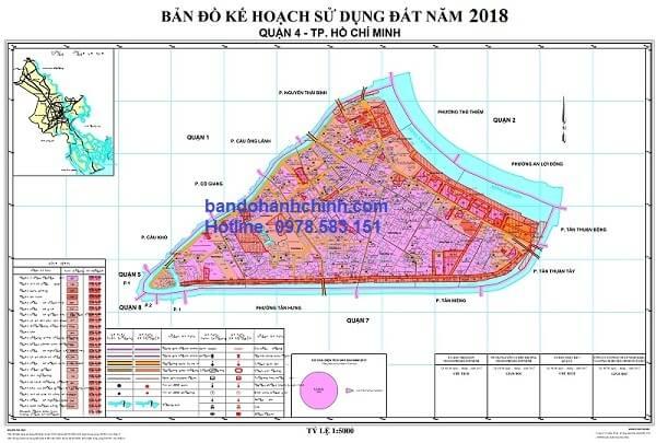 Bản đồ quy hoạch quận 4 TP HCM