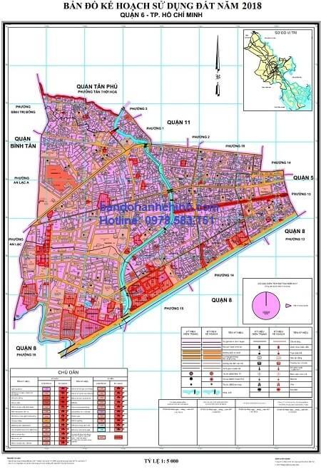 Bản đồ quy hoạch quận 6 TP HCM