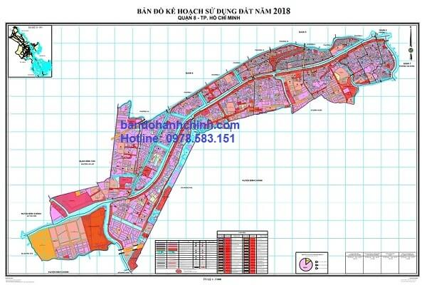 Bản đồ quy hoạch quận 8 TP HCM